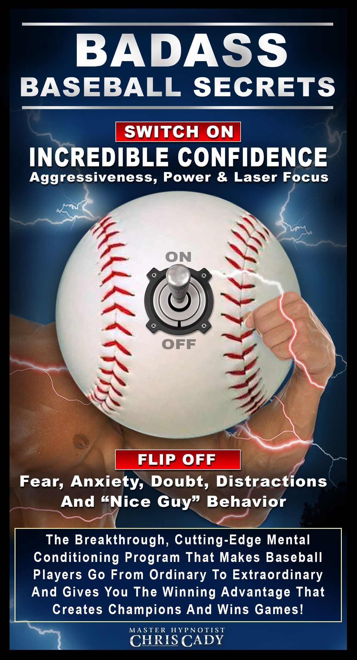 basetball sports hypnosis super mental toughness for baseball champions