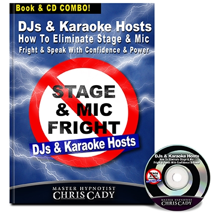 hypnosis stage fright for djs and karaoke hosts hypnosis cd and book cover