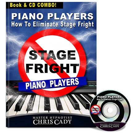 hypnosis stage fright for piano players hypnosis cd and book cover