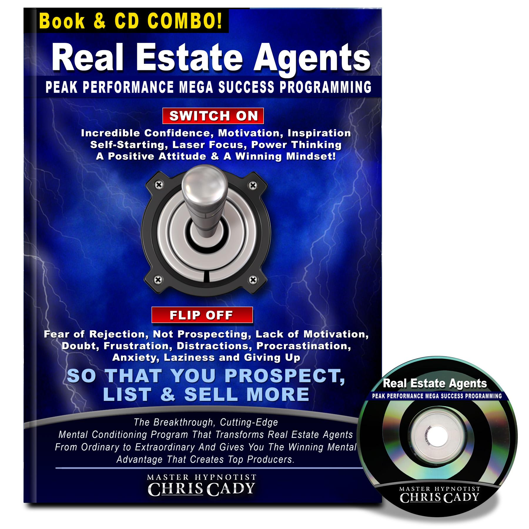 hypnosis for real estate agents self confidence success hypnosis cd and book cover