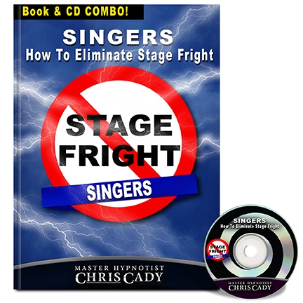 hypnosis stage fright for public singers hypnosis cd and book cover