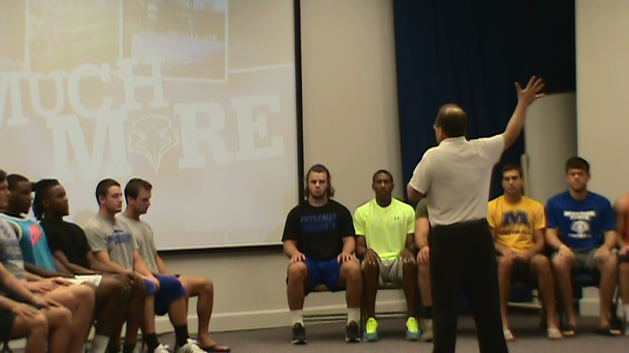 hypnosis induction for college football team by hypnotist chris cady